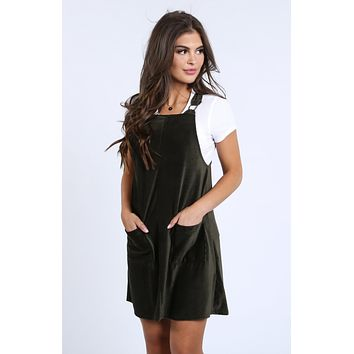Janney Corduroy Overall Dress | S-XL