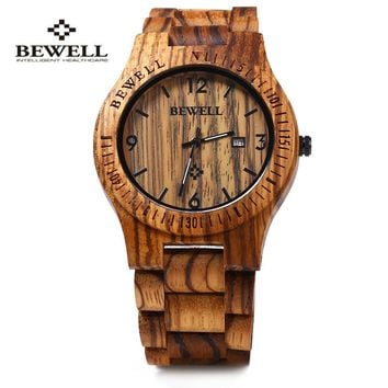 BEWELL ZS-W086B Luxury Wood Quartz Watch