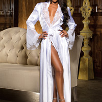 Hollywood Glamour Charmeuse Long Robe
