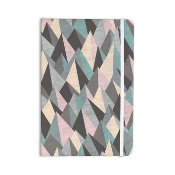 "Michelle Drew ""Mountain Peaks III"" Pastel Geometric Everything Notebook"