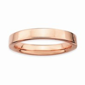 18k Rose Gold Plated Sterling SilverRing, Size 9