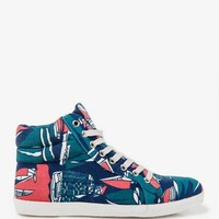 Abstract Print High Tops