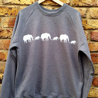 Elephants Sweatshirt - look cool & help to save Elephants