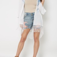 Wildflower Fringed Wrap By Clover + Scout | Cardigans & Kimonos | rue21