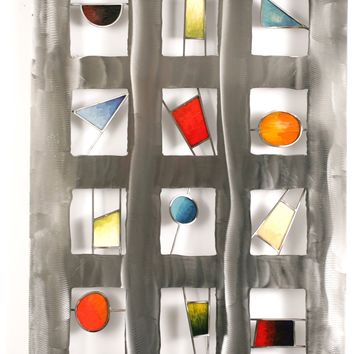 Shimmer Contemporary Wall Sculpture by Metal Perspectives