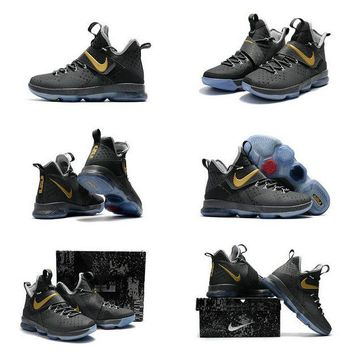 Purchase LeBron 14 XIV Grey Gold 2017 Lebron James Shoes Glow In The Dark Brand sneaker