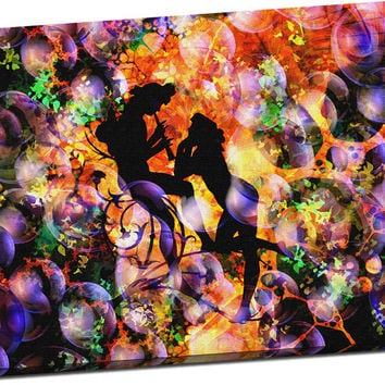Abstract Flute Player Print