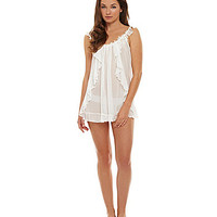 In Bloom by Jonquil Ruffle Front Bridal Babydoll Set - Ivory L