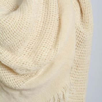 Open Weave Square Scarf / Blanket