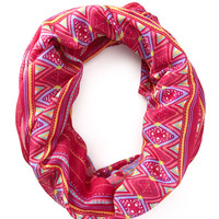 Eclectic Striped Infinity Scarf