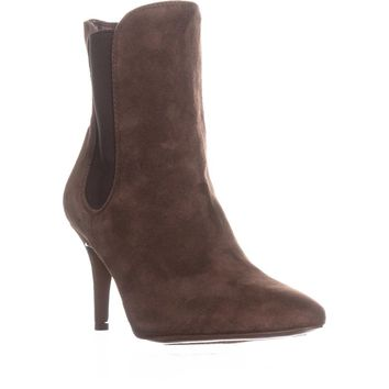 Lauren by Ralph Lauren Pashia Ankle Boots, Brown Suede, 6.5 US / 37.5 EU