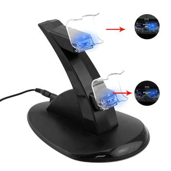 for PlayStation PS4 Controller LED Charger Dock Station Dual USB Fast Charging Stand for PS4 Controller Charger Station Dual USB