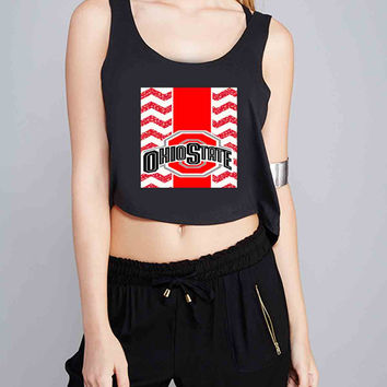 Ohio State Chevron for Crop Tank Girls S, M, L, XL, XXL *NP*