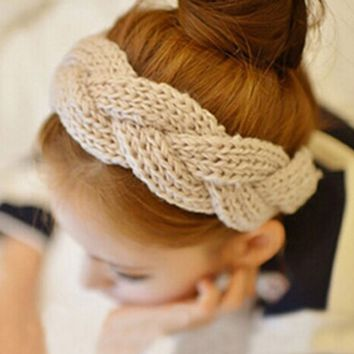 1 pc Crochet Twist Knitted Headwrap Winter Warmer Hair Band for Women clothing Accessories headband 8 colors