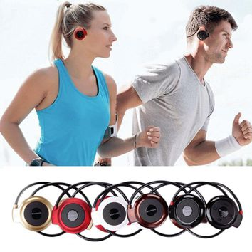 MINI503 Ear Hook Mini Sports Wireless Bluetooth Headset Hi-Fi Handsfree Stereo Earphone Headphone TF Card For MP3 Player