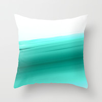 Mint Ombre Throw Pillow by SimpleChic