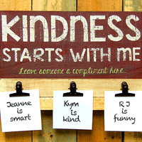 Kindness Starts With Me - Compliment Memo Board - 11-1/2-in