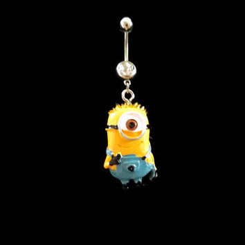 DESPICABLE ME MINION One Eye Belly Ring Navel Ring Body Jewelry