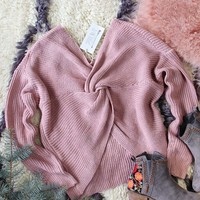 Venice Cozy Sweater in Mauve