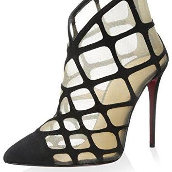Christian Louboutin Women's Araknene Pump, Black/Natural, 35 M EU/5 M US