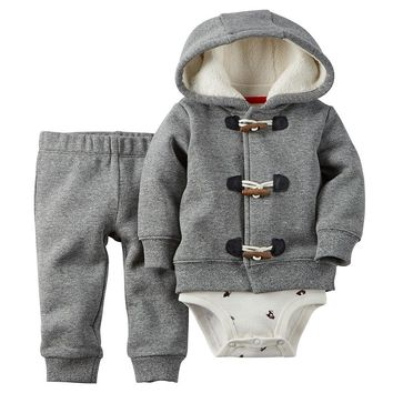 Carter's Christmas Hoodie Set - Baby Boy, Size: