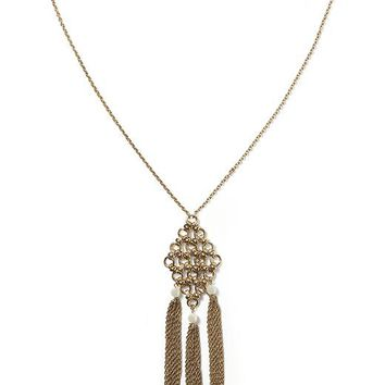 Banana Republic Tassel Chain Necklace Size One Size - New bronze