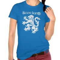 Vintage Style Scottish Lion Rampant T-Shirt. Tee shirts tops clothes clothing Scotland Scots Scotch