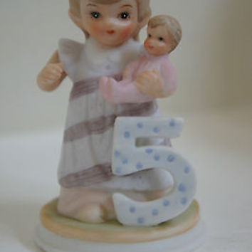 "Vintage Lefton China ""Birthday Girl"" 1982 Christopher Figurine No. 03448E"