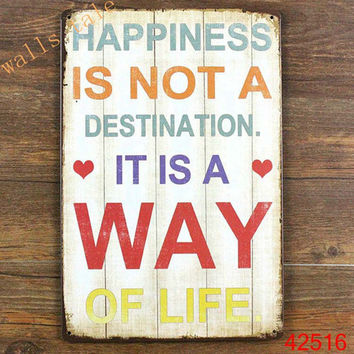 Metal wall art vintage home decor - Life quote metal tin sign house decoration ,large size 20x30cm