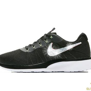 Nike Tanjun Racer + Crystals - Black/Green