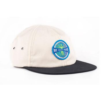 We Out Here Globe 6 Panel (Black / Cream) | RIPNDIP
