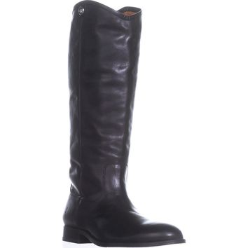 FRYE Melissa Button 2 Tall Riding Boots, Black, 10 US