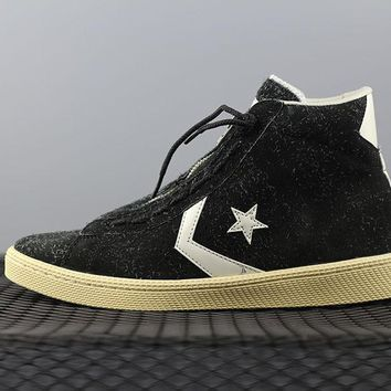 PEAPON Converse Nonnative x Converse Pro Leather Hi Fashion Canvas Flats Sneakers Black