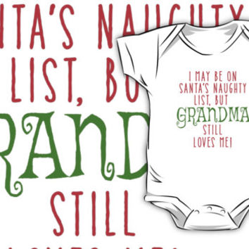 'Grandma Loves Me Funny Christmas' Kids Clothes by Greenbaby