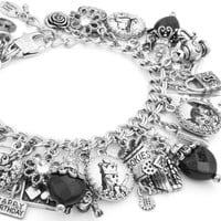 Alice in Wonderland Charm Bracelet, Through the Looking Glass
