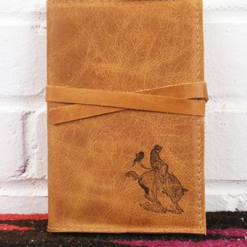 Bucking Bronco Leather Journal *Free Customization*