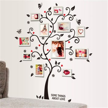 DIY Family Photo Frame Tree Wall Sticker