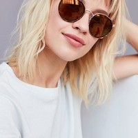 Charlie Metal Round Sunglasses   Urban Outfitters