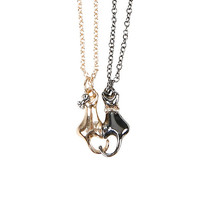 Bow Cats Best Friend Necklace Set