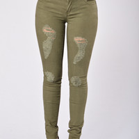 Concrete Jungle Pants - Utility Green