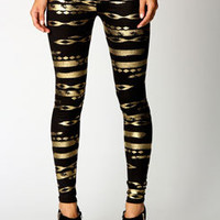 Bailey Metallic Aztec Leggings