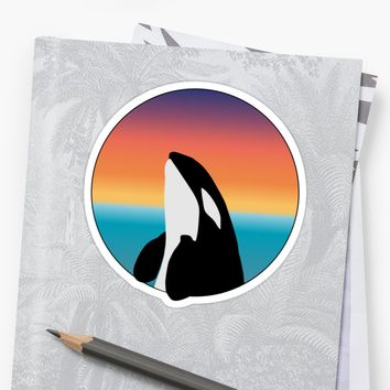 'Free Orca' Sticker by livkelly