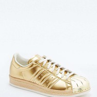 adidas Originals Superstar 80s Metallic Gold Trainers - Urban Outfitters