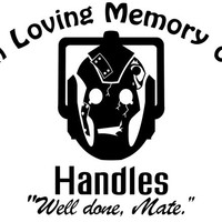 "Doctor Who ""Handles"" memorial Decal"