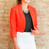 Anette Cropped Jacket - Scarlet