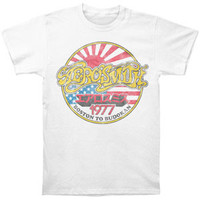 Aerosmith Men's  Boston To Budokan Slim Fit T-shirt White