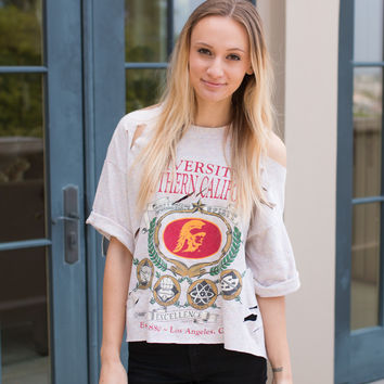 University of Southern California Distressed Tee