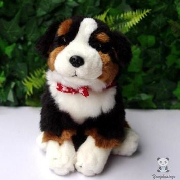 Bernese Mountain Dog Stuffed Animal Plush Toy 8""