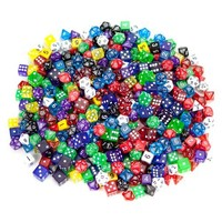 100+ Pack of Random Polyhedral Dice in Multiple Colors Plus Free Pouch Set by Wiz Dice | deviazon.com
