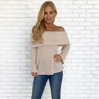 Nirvana Knit Sweater Top in Cream